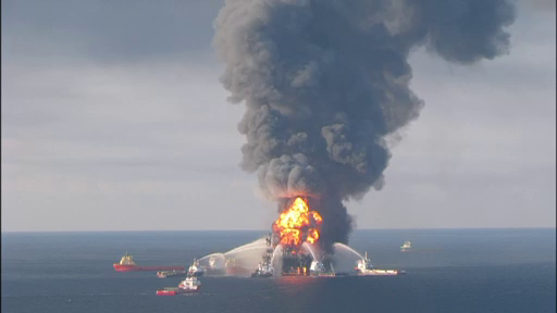 Deepwater Horizon Explosion on April 20, 2010