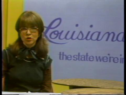 Beth George hosting Louisiana: The State We're In in 1977