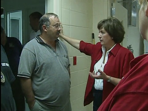 Gov. Kathleen Blanco in Vinton following Hurricane Rita