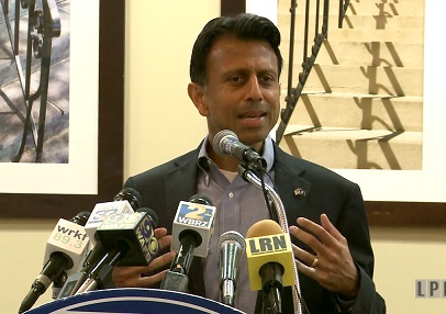 Governor Bobby Jindal speaking to the Baton Rouge Press Club