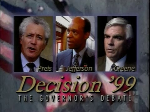 Phil Preis, William Jefferson, and Tom Green at 1999 gubernatorial debate