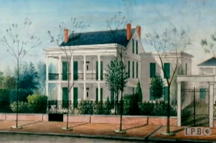 Painting of the Degas House in New Orleans