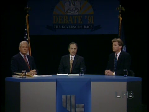 Debate 1991 with Edwin Edwards, Robert Collins, and David Duke