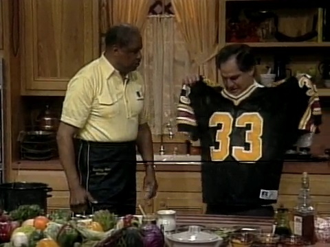 Coach Eddie Robinson and Chef John Folse