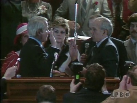 Gov. Edwin Edwards Sworn In for Third Term