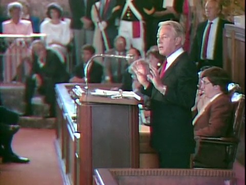 Gov. Edwin Edwards Addresses the Legislature in 1987