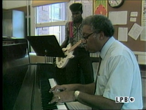 Ellis Marsalis at the Piano with a student