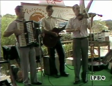 Band playing at Festivals Acadiens in 1983