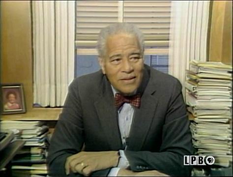 Dr. Huel Perkins discussing the Harlem Renaissance