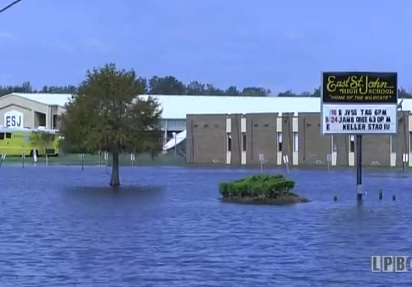 Flooding Caused by Hurricane Isaac