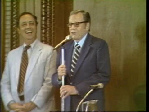 Governor Jimmie Davis Speaking at the State Capitol in 1983