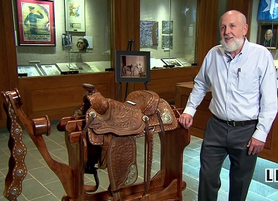 Governor Jimmie Davis' Saddle at the Louisiana State Archives