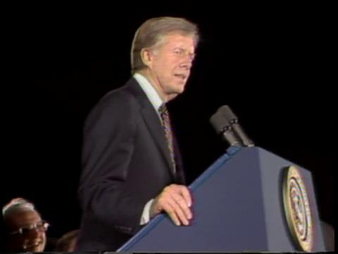 President Jimmy Carter in Louisiana