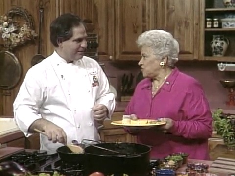 Chef John Folse and Chef Leah Chase on A Taste of Louisiana in 1994