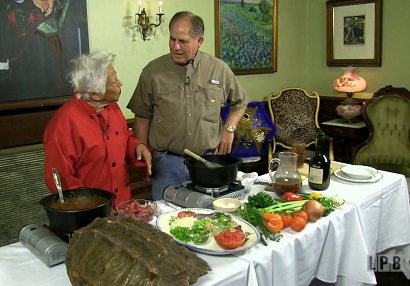 Chef Leah Chase and Chef John Folse