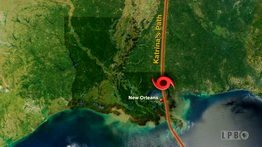 Hurricane Katrina's Path