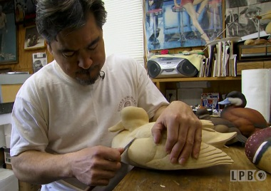 Wooden Duck Decoy Carving