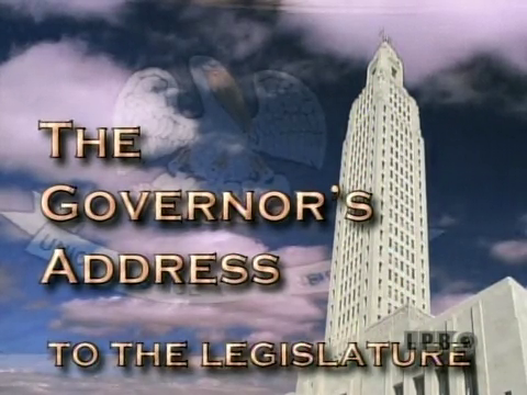 The Governor's Address to the Legislature