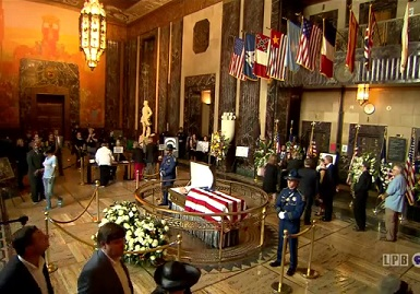 Gov. Edwin Edwards Lying in State at the State Capitol
