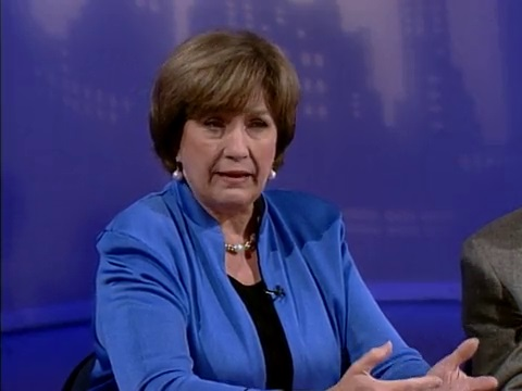 Gov. Kathleen Blanco on the first episode of Louisiana Public Square