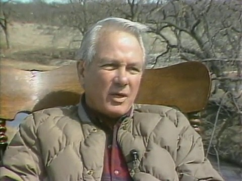 Governor Edwin Edwards on his ranch in Texas