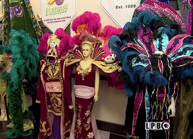 Costumes at the Mardi Gras Museum in Lake Charles