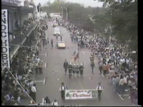 Natchitoches Christmas Parade in 1978