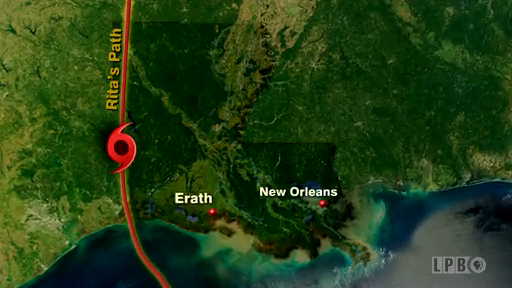 Hurricane Rita's Path