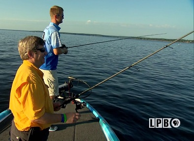 Bass fishing at the Toledo Bend Reservoir
