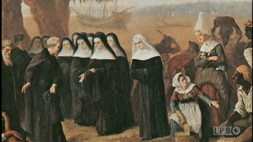 Painting of the arrival of the Ursuline Nuns in New Orleans