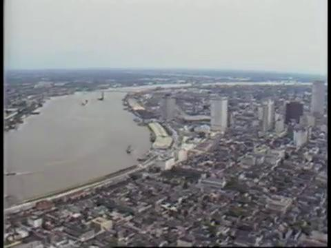 Mississippi River in New Orleans in 1981