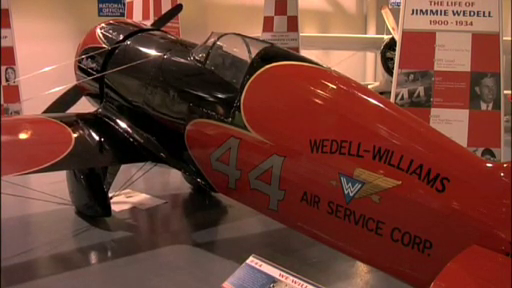 Wedell-Williams Airplane on display in Patterson Museum